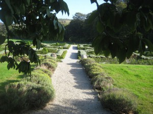 Public gardens at Trereife House, Cornwall
