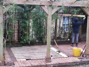 Work in progress on a Bristol garden reinvention
